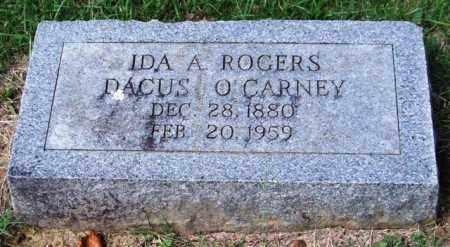 ROGERS O'CARNEY, IDA A. - Garland County, Arkansas | IDA A. ROGERS O'CARNEY - Arkansas Gravestone Photos