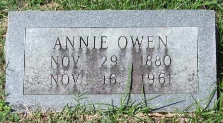 OWEN, ANNIE - Garland County, Arkansas | ANNIE OWEN - Arkansas Gravestone Photos