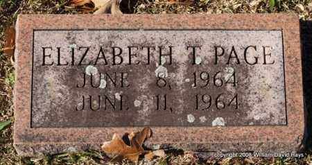 PAGE, ELIZABETH T. - Garland County, Arkansas | ELIZABETH T. PAGE - Arkansas Gravestone Photos