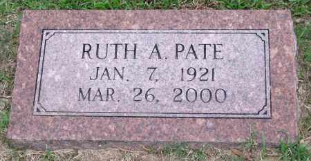 PATE, RUTH A. - Garland County, Arkansas | RUTH A. PATE - Arkansas Gravestone Photos