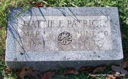 PATRICK, HATTIE E. - Garland County, Arkansas | HATTIE E. PATRICK - Arkansas Gravestone Photos