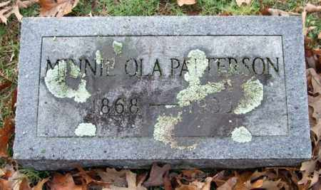PATTERSON, MINNIE OLA - Garland County, Arkansas | MINNIE OLA PATTERSON - Arkansas Gravestone Photos