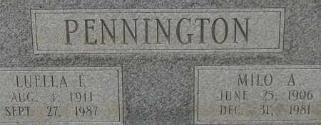 PENNINGTON, MILO A. (CLOSE UP) - Garland County, Arkansas | MILO A. (CLOSE UP) PENNINGTON - Arkansas Gravestone Photos