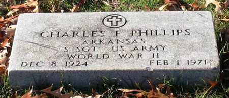 PHILLIPS (VETERAN WWII), CHARLES FRANK - Garland County, Arkansas | CHARLES FRANK PHILLIPS (VETERAN WWII) - Arkansas Gravestone Photos