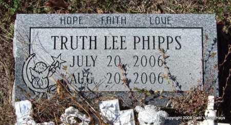PHIPPS, TRUTH LEE - Garland County, Arkansas | TRUTH LEE PHIPPS - Arkansas Gravestone Photos