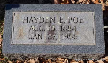 POE, HAYDEN E. - Garland County, Arkansas   HAYDEN E. POE - Arkansas Gravestone Photos