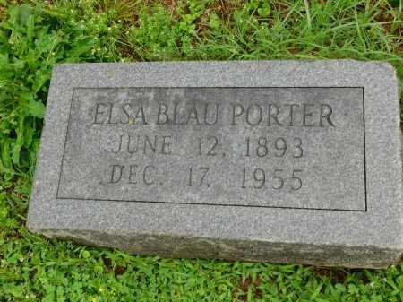 PORTER, ELSA BLAU - Garland County, Arkansas | ELSA BLAU PORTER - Arkansas Gravestone Photos