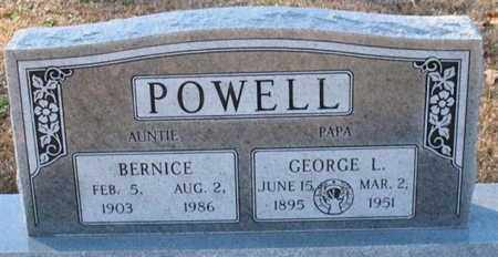 POWELL, GEORGE L. - Garland County, Arkansas | GEORGE L. POWELL - Arkansas Gravestone Photos