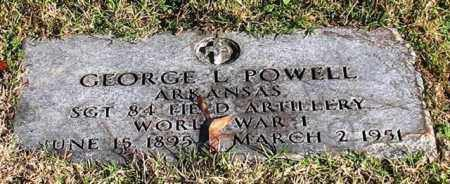 POWELL (VETERAN WWI), GEORGE L - Garland County, Arkansas | GEORGE L POWELL (VETERAN WWI) - Arkansas Gravestone Photos