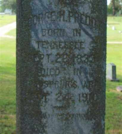 PREDDY, GEORGE H. (CLOSE UP) - Garland County, Arkansas | GEORGE H. (CLOSE UP) PREDDY - Arkansas Gravestone Photos