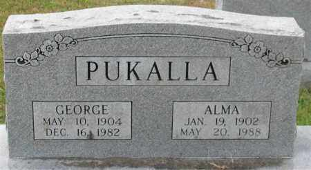 PUKALLA, GEORGE - Garland County, Arkansas | GEORGE PUKALLA - Arkansas Gravestone Photos