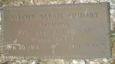 QUIMBY (VETERAN WWII), LOTUS ALLEN - Garland County, Arkansas | LOTUS ALLEN QUIMBY (VETERAN WWII) - Arkansas Gravestone Photos