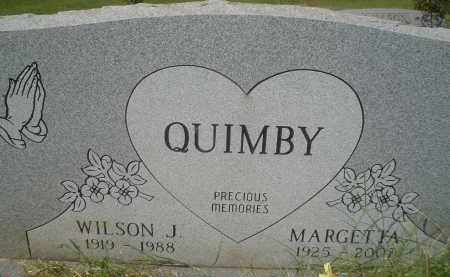 QUIMBY, WILSON J. - Garland County, Arkansas | WILSON J. QUIMBY - Arkansas Gravestone Photos