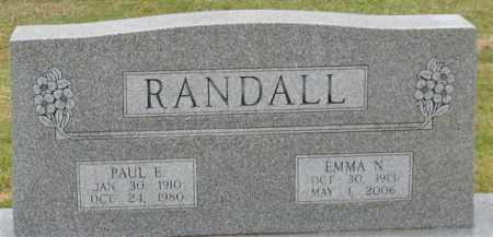 RANDALL, EMMA N. - Garland County, Arkansas | EMMA N. RANDALL - Arkansas Gravestone Photos