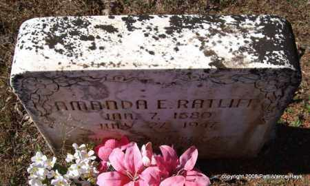RATLIFF, AMANDA EVELYN - Garland County, Arkansas | AMANDA EVELYN RATLIFF - Arkansas Gravestone Photos