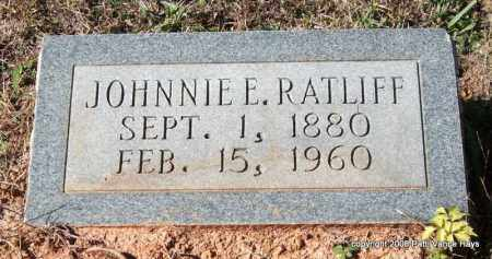 RATLIFF, JOHNNIE E. - Garland County, Arkansas | JOHNNIE E. RATLIFF - Arkansas Gravestone Photos