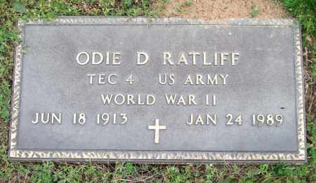 RATLIFF (VETERAN WWII), ODIE D. - Garland County, Arkansas | ODIE D. RATLIFF (VETERAN WWII) - Arkansas Gravestone Photos