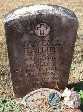 RATLIFF (VETERAN WWII), JAMES E. - Garland County, Arkansas | JAMES E. RATLIFF (VETERAN WWII) - Arkansas Gravestone Photos