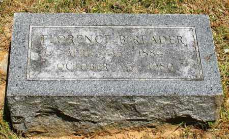 READER, FLORENCE B. - Garland County, Arkansas | FLORENCE B. READER - Arkansas Gravestone Photos