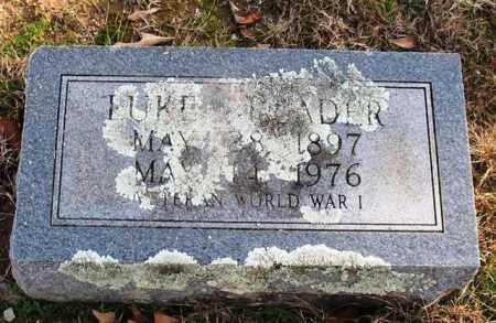READER (VETERAN WWI), LUKE - Garland County, Arkansas | LUKE READER (VETERAN WWI) - Arkansas Gravestone Photos