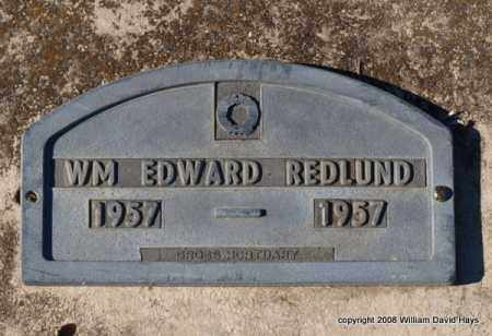 REDLUND, WILLIAM EDWARD - Garland County, Arkansas | WILLIAM EDWARD REDLUND - Arkansas Gravestone Photos