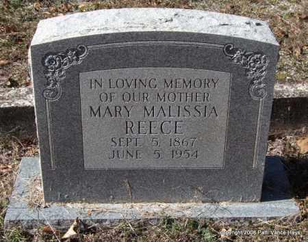 REECE, MARY MALISSIA - Garland County, Arkansas | MARY MALISSIA REECE - Arkansas Gravestone Photos