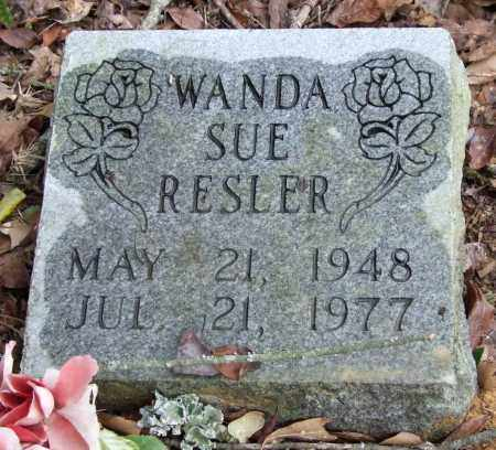 RESLER, WANDA SUE - Garland County, Arkansas | WANDA SUE RESLER - Arkansas Gravestone Photos