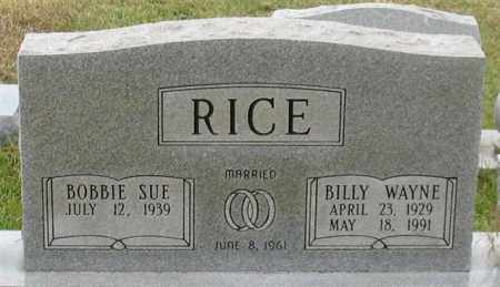 RICE, BILLY WAYNE - Garland County, Arkansas | BILLY WAYNE RICE - Arkansas Gravestone Photos
