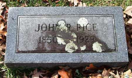 RICE, JOHN R. - Garland County, Arkansas | JOHN R. RICE - Arkansas Gravestone Photos