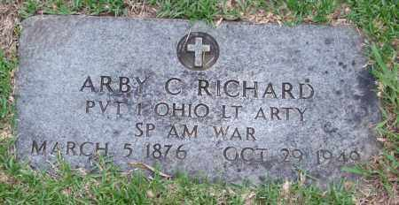 RICHARD (VETERAN SAW), ARBY C. - Garland County, Arkansas | ARBY C. RICHARD (VETERAN SAW) - Arkansas Gravestone Photos