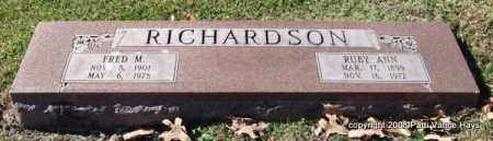 RICHARDSON, RUBY ANN - Garland County, Arkansas | RUBY ANN RICHARDSON - Arkansas Gravestone Photos