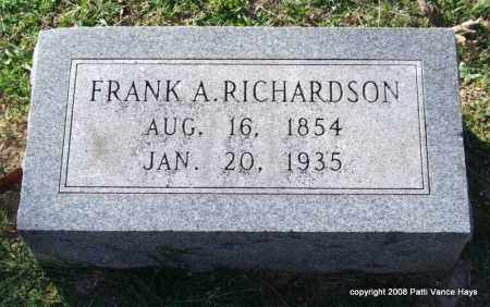 RICHARDSON, FRANK A. - Garland County, Arkansas | FRANK A. RICHARDSON - Arkansas Gravestone Photos