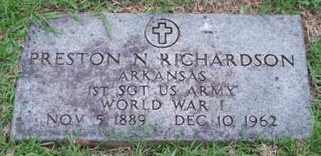 RICHARDSON (VETERAN WWI), PRESTON N. - Garland County, Arkansas | PRESTON N. RICHARDSON (VETERAN WWI) - Arkansas Gravestone Photos