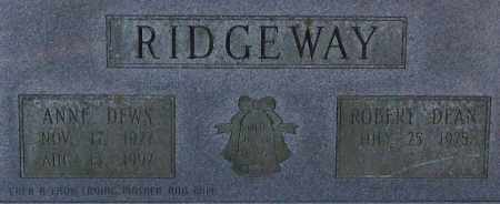 DEWS RIDGEWAY, ANNE (CLOSE UP) - Garland County, Arkansas | ANNE (CLOSE UP) DEWS RIDGEWAY - Arkansas Gravestone Photos