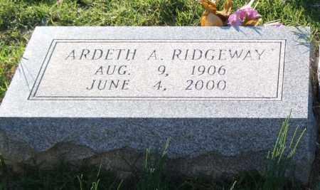 RIDGEWAY, ARDETH A. - Garland County, Arkansas | ARDETH A. RIDGEWAY - Arkansas Gravestone Photos