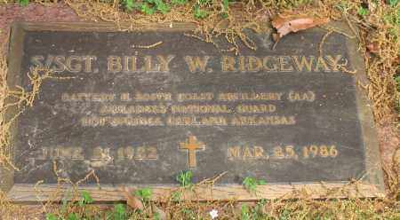 RIDGEWAY, BILLY W. - Garland County, Arkansas | BILLY W. RIDGEWAY - Arkansas Gravestone Photos