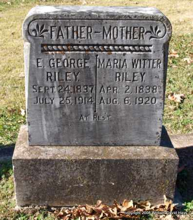 WITTER RILEY, MARIA - Garland County, Arkansas | MARIA WITTER RILEY - Arkansas Gravestone Photos