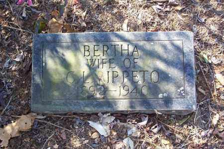 JENNINGS RIPPETO, BERTHA A. - Garland County, Arkansas | BERTHA A. JENNINGS RIPPETO - Arkansas Gravestone Photos
