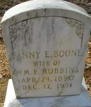 BOONE ROBBINS, FANNY E. - Garland County, Arkansas | FANNY E. BOONE ROBBINS - Arkansas Gravestone Photos