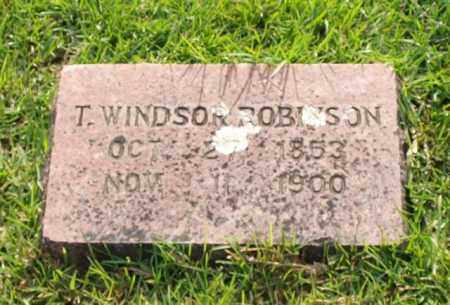 ROBINSON, T. WINDSOR - Garland County, Arkansas | T. WINDSOR ROBINSON - Arkansas Gravestone Photos