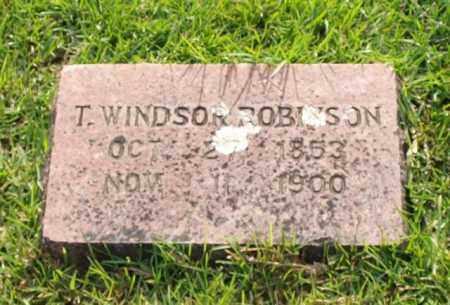 ROBINSON, T. WINDSOR - Garland County, Arkansas | T. WINDSOR ROBINSON - Arkansas Gravestone Photos