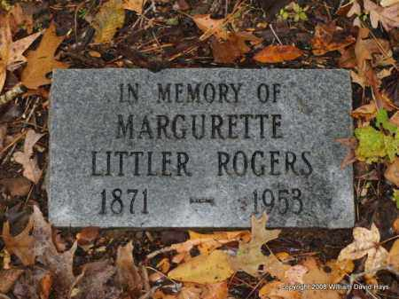 LITTLER ROGERS, MARGURETTE - Garland County, Arkansas | MARGURETTE LITTLER ROGERS - Arkansas Gravestone Photos