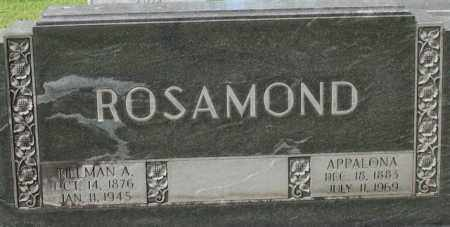 ROSAMOND, APPALONA - Garland County, Arkansas | APPALONA ROSAMOND - Arkansas Gravestone Photos