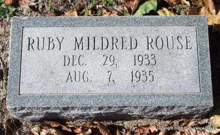 ROUSE, RUBY MILDRED - Garland County, Arkansas | RUBY MILDRED ROUSE - Arkansas Gravestone Photos
