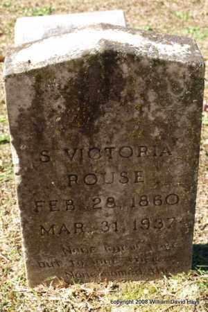ROUSE, SARAH VICTORIA - Garland County, Arkansas | SARAH VICTORIA ROUSE - Arkansas Gravestone Photos