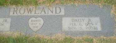 ROWLAND, DAISY B. - Garland County, Arkansas | DAISY B. ROWLAND - Arkansas Gravestone Photos