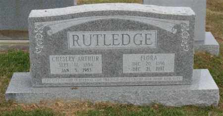 RUTLEDGE, CHESLEY ARTHUR - Garland County, Arkansas | CHESLEY ARTHUR RUTLEDGE - Arkansas Gravestone Photos