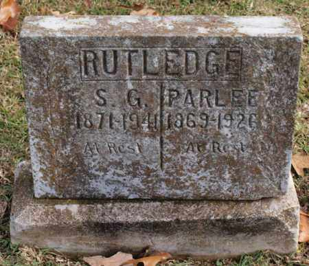 RUTLEDGE, PARLEE - Garland County, Arkansas | PARLEE RUTLEDGE - Arkansas Gravestone Photos