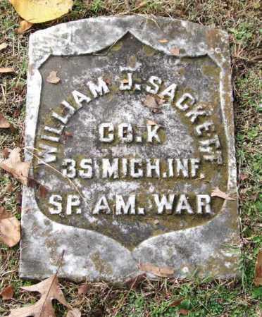 SACKETT (VETERAN SAW), WILLIAM J - Garland County, Arkansas | WILLIAM J SACKETT (VETERAN SAW) - Arkansas Gravestone Photos