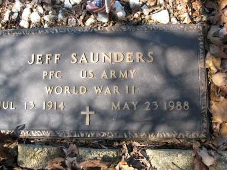 SAUNDERS (VETERAN WWII), JEFF - Garland County, Arkansas | JEFF SAUNDERS (VETERAN WWII) - Arkansas Gravestone Photos